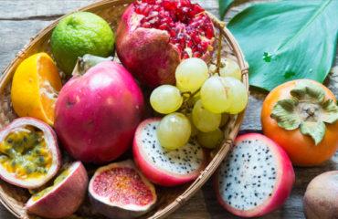 plateau fruits de la passion raisin et figues