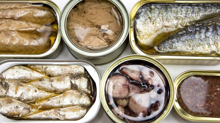 boites de conserves à base de thon sardine anchois